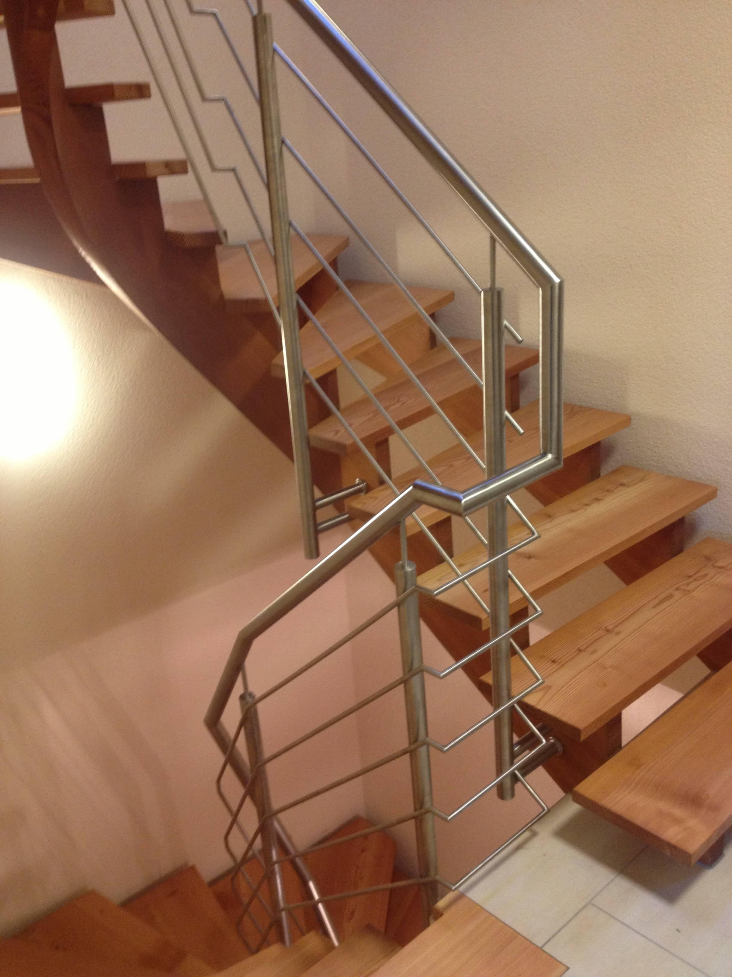 Edelstahl Treppengeländer von Metallbau Häusler