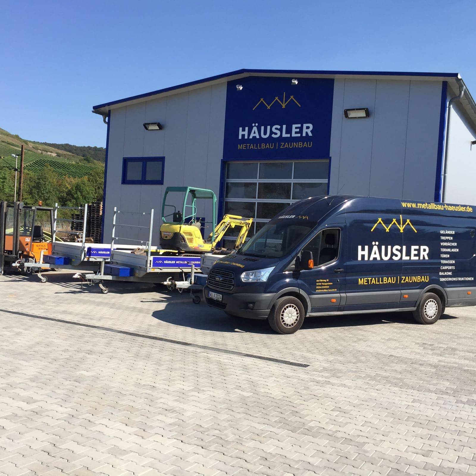 Metallbau & Zaunbau Häusler Firmengebäude Firmengelände in Thüngersheim bei Würzburg